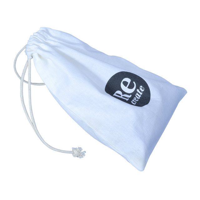 Custom cotton muslin bags with black logo