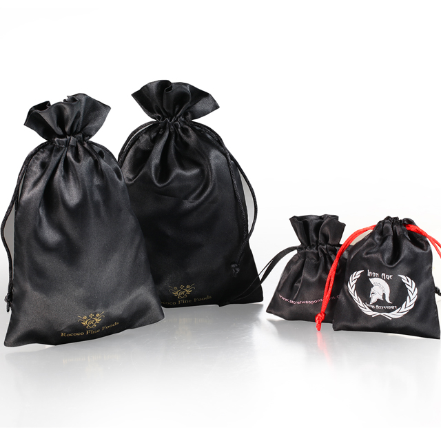 New design silk satin jewelry bag with logo