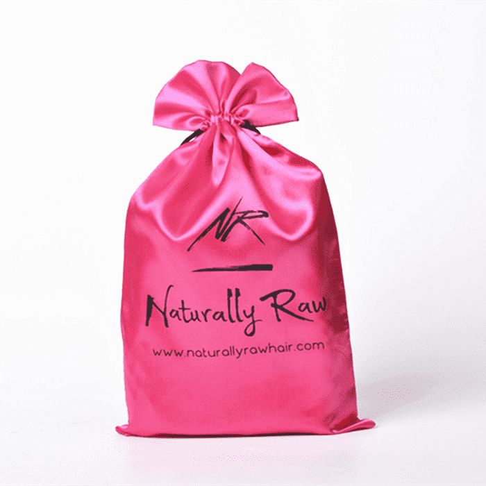 Luxury gift pink satin dust pouches