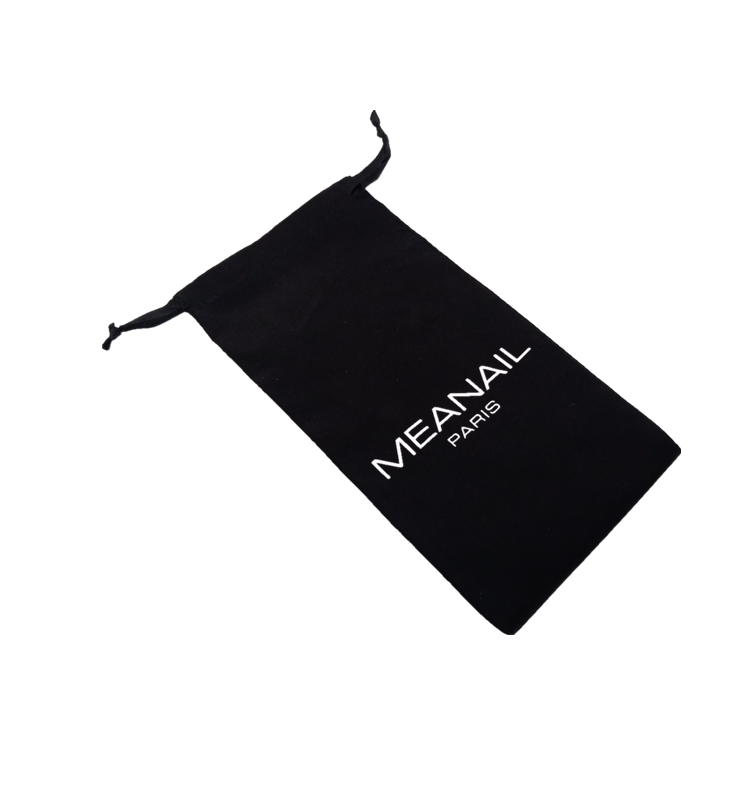 satin Hair drawstring bag pouch with printing logo