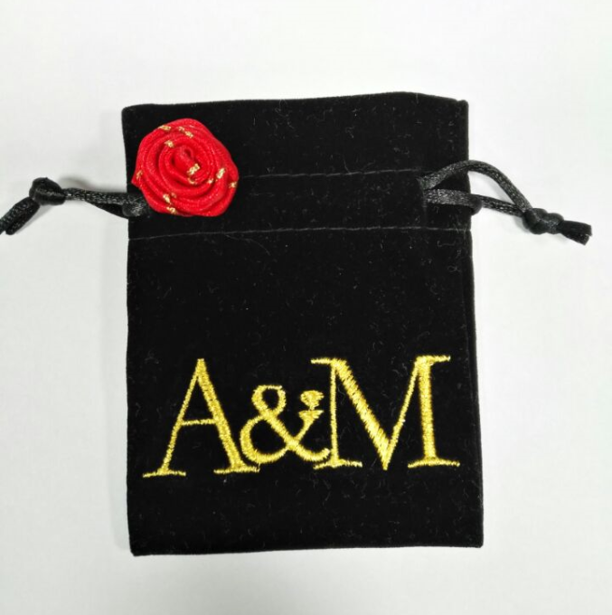 Best quality black velvet bag for jewellery