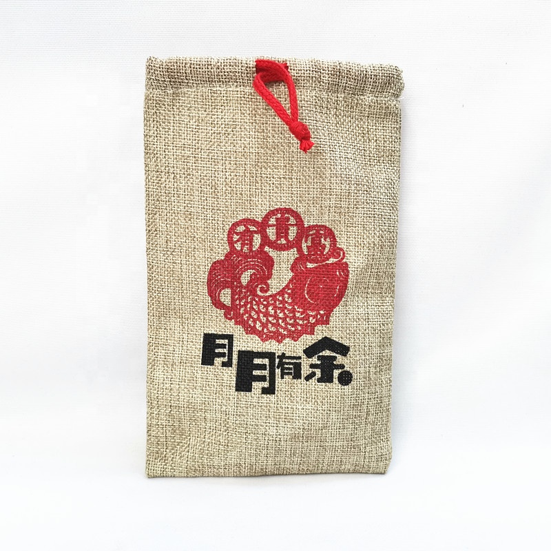 Wholesale recycled jute drawstring bags