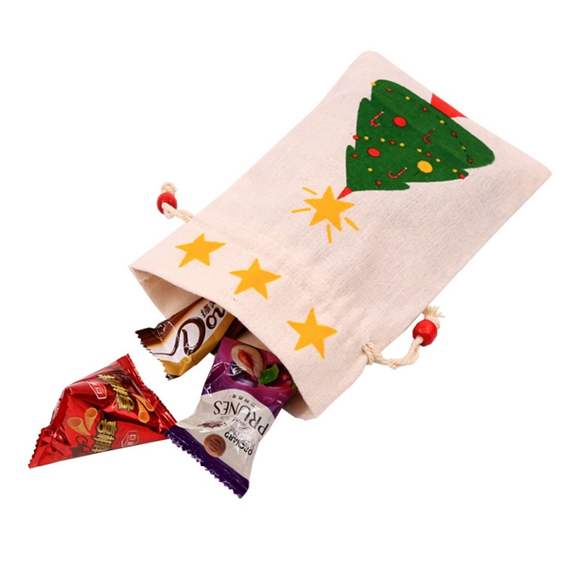 Wholesale drawstring christmas candy gift bags