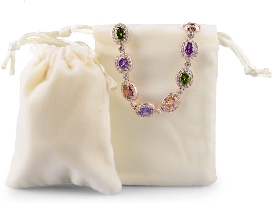 Soft Velvet Pouches with Drawstrings for Jewelry Wedding Candy Bags